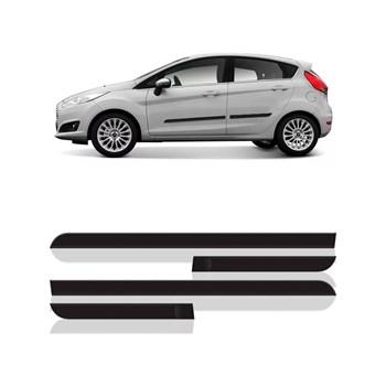 Jogo Friso Lateral New Fiesta Hatch/sedan 2012 Á 2018 - 4 Peças