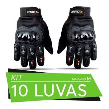 Kit 10 Pares De Luvas Motociclista Frio Intenso Chuva Tam M