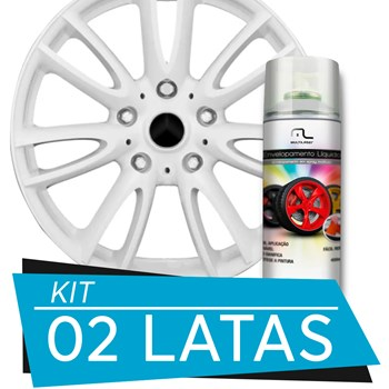 Kit 2 Latas Spray De Envelopamento Líquido Branco Fosco