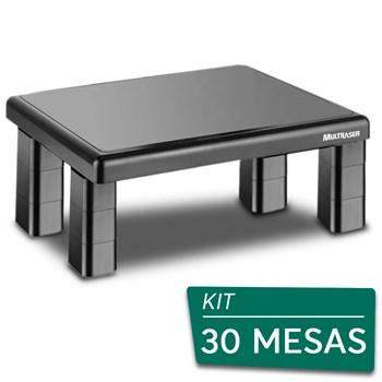 Kit 30 Suportes Base Para Monitor De Mesa Multilaser Quadrado