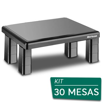 Kit 30 Suportes Base Para Monitor De Mesa Multilaser Quadrado <BR>