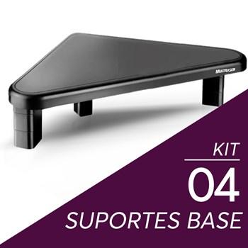 Kit 4 Suportes Base Para Monitor Multilaser Triangular Preto