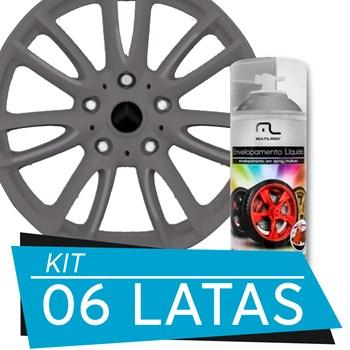 Kit 6 Latas Spray De Envelopamento Líquido Grafite