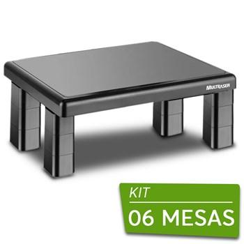 Kit 6 Suportes Multilaser Para Monitor De Mesa Quadrado