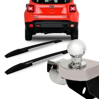 Kit Acessórios Jeep Renegade Longarina Teto + Engate Fixo