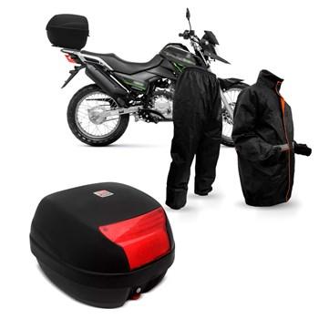 Kit Baú Givi Moto 29 Litros + Capa De Chuva Multilaser
