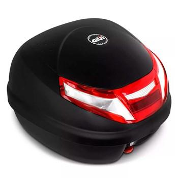 Kit Baú Givi Moto 30l Lente Bicolor + Capa Chuva Multilaser