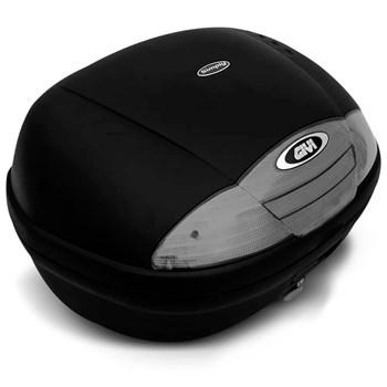 Kit Baú Moto Litros Lente Fumê + Capa de Chuva