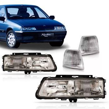 Kit Citroën Xantia 1993 1994 1995 1996 Farois + Piscas