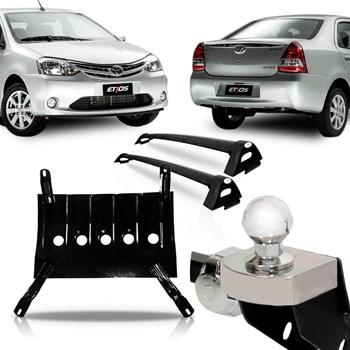 Kit Etios Sedan 2013 A 2017 Engate + Rack + Protetor Carter