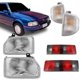 Kit Farol + Pisca + Lanterna Ford Escort Hobby 1987 1988 1989 1990 1991 1992