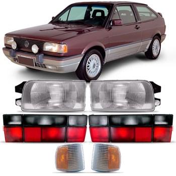 Kit Farol Volkswagen Gol Quadrado 1991 A 1995 + Pisca + Lanterna