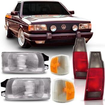 Kit Farol Volkswagen Saveiro Parati Quadrada 1991 1992 1993 1994 1995 + Pisca + Lanterna
