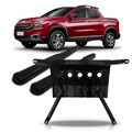 Kit Fiat Toro Estribo Lateral Oval Preto + Protetor Carter