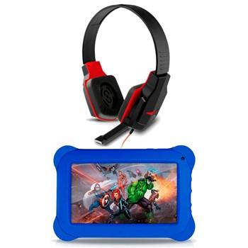 Kit Fone Headset Gamer + Tablet Disney Vingadores