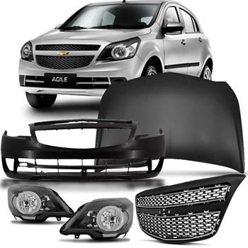 Kit Frente Agile Chevrolet 2008 A 2014 Frente Completa