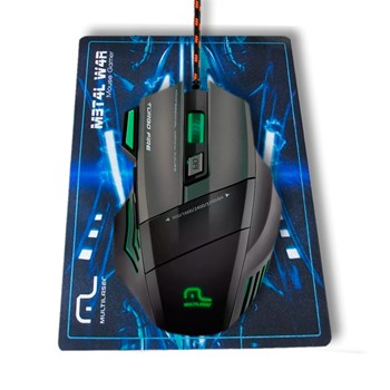Kit Gamer Macro Multilaser Mouse Mo207 + Teclado Led Tc199