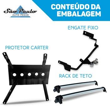 Kit Hb20 Hatch 2013 A 2017 Engate Fixo + Rack + Protetor Carter