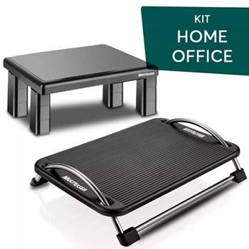 Kit Home Office Apoio Descanso Pé + Suporte Monitor Pc