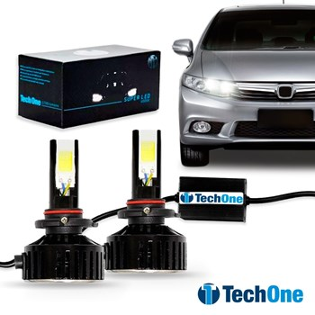 Kit Lampada Led Automotiva HB3 9005 6000K 7400 Lumens