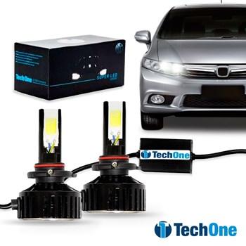 Kit Lâmpada Led Automotiva HB3 9005 6000K 7400 Lumens