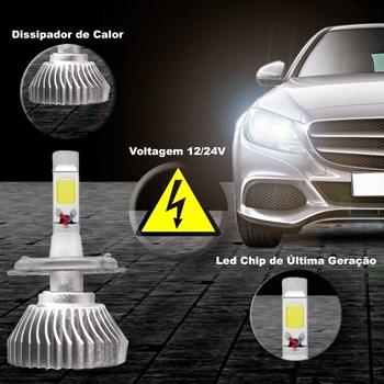 Kit Lampada Super Led Branca Camaro Alto E Baixo 6000k