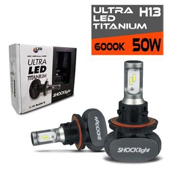 Kit Lâmpada Ultra Led 6000k Titanium Shocklight H13 10000 Lumens