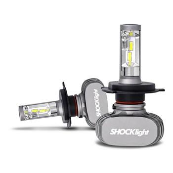 Kit Lampada Ultra Led 6000k Titanium Shocklight H4 10000 Lumens