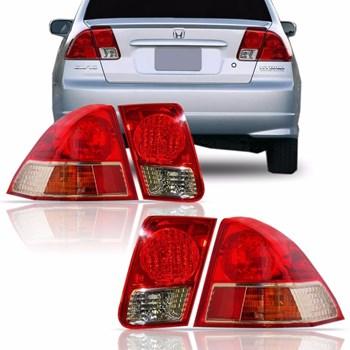 Kit Lanterna Traseira Honda Civic 2004 2005 2006 Canto e Tampa