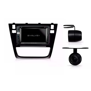 Kit Multimídia Evolve + /câmera Ré/ Moldura 2din Gol G6