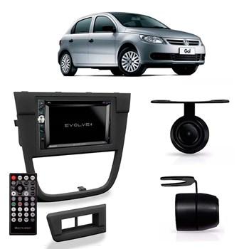 Kit Multimidia Evolve + / Camera Ré/ Moldura 2din Gol Gv