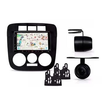 Kit Multimídia Evolve Fit /câmera Ré/ Moldura 2din Gol G4