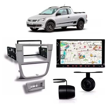 Kit Multimídia Evolve Fit/câmera Ré/ Moldura 2din Saveiro