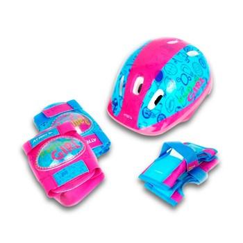 Kit Proteção Infantil Patins Skate Bicicleta Rollers - Rosa