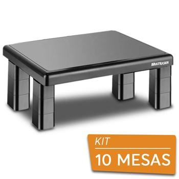 Kit Suportes Base Para Monitor De Mesa Quadrado Multilaser - 10 Peças