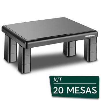 Kit Suportes Base Para Monitor De Mesa Quadrado Multilaser - 20 Peças
