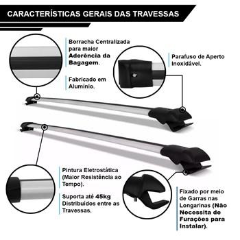 Kit Travessa Prata Teto Captiva + Maleiro Dobrável 425 L
