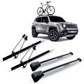 Kit Travessa Rack Renegade 2015 2016 Prata Com  2 Suporte Bike