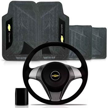 Kit Volante Actrative Cubo Chevrolet + Tapete Pvc com Carpete