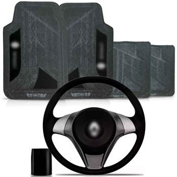 Kit Volante Actrative Cubo Renault + Tapete Pvc Com Carpete