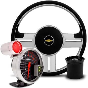 Kit Volante Rallye Chevette + Velocimetro Carbono