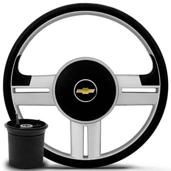 Kit Volante Rallye Cubo Chevrolet + Tapete Pvc Com carpete