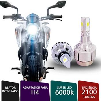 Lâmpada Super Led 3D H4 H7 6000k Para Moto