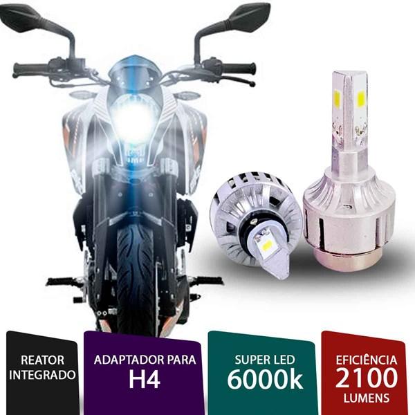 Lâmpada Super Led 3D Para Moto H4 / H7 6000k
