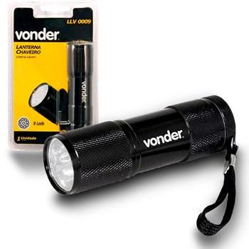 Lanterna 9 leds Chaveiro Em Alumínio Llv 0009 Vonder