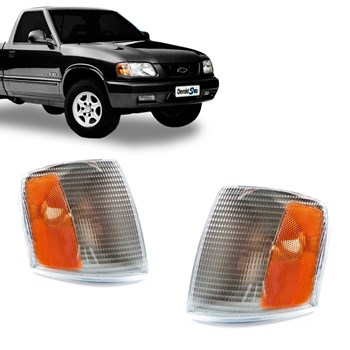 Lanterna Dianteira S10 Blazer 1995 A 1998 Cristal Âmbar