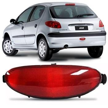Lanterna Neblina Acrilico Parachoque Traseiro Peugeot 206 1999 A 2010