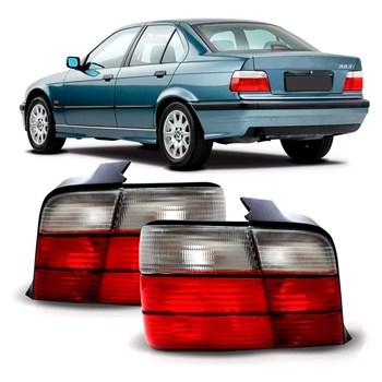 LANTERNA TRASEIRA BMW SERIE 3 1991 1992 1993 1994 1994 1995 1996 1997 4 PORTAS BICOLOR