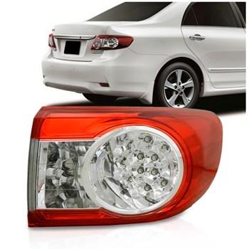 Lanterna Traseira Corolla Xei Altis Canto Ano 2012 2013 com Led