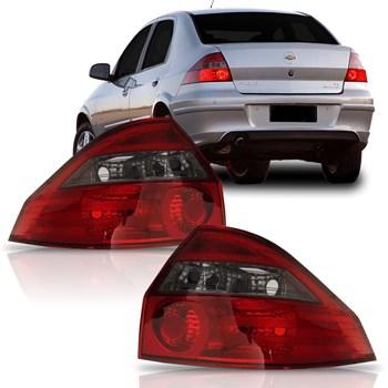 Lanterna Traseira Prisma 2006 A 2012 Fumê
